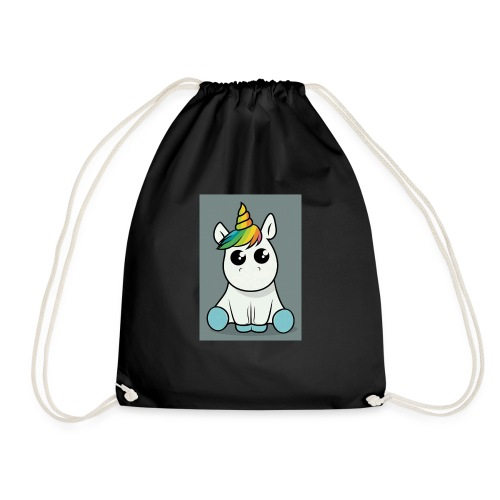 baby unicorn boy - Drawstring Bag