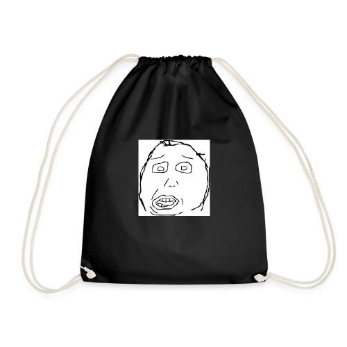 dumb face - Drawstring Bag