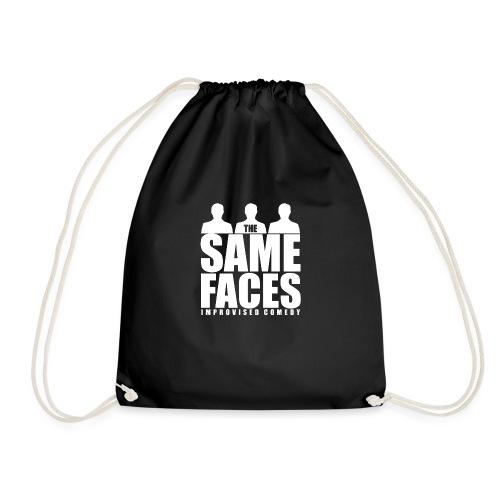 Same Faces Logo - White - Drawstring Bag