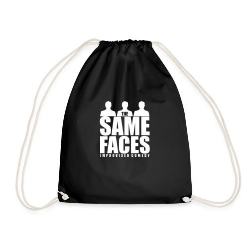 Same Faces Logo - White - Drawstring Bag
