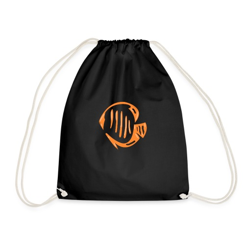 Aquarium Adventures Logo - Drawstring Bag