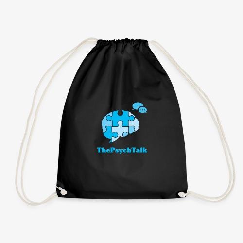 The Psych Talk Logo - Jigsaw Brain - Drawstring Bag