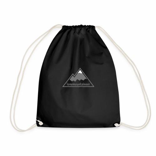 Lonemountaineer logo wht - Drawstring Bag