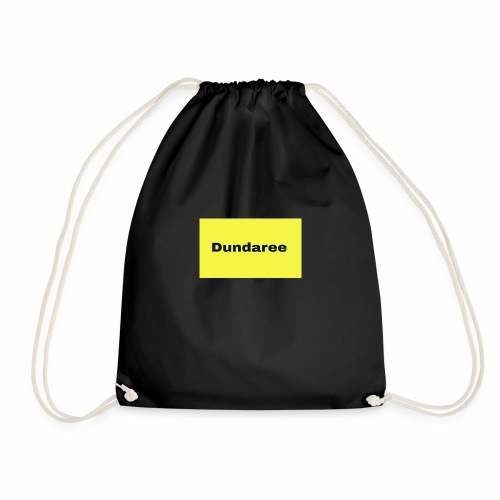 yellow & black dundaree gear - Drawstring Bag