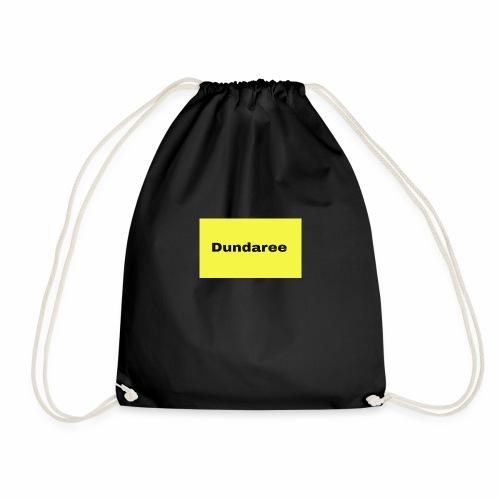 yellow & black dundaree gear - Drawstring Bag