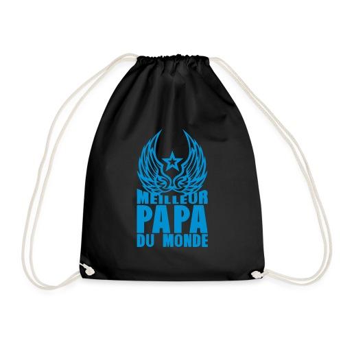 meilleur papa du monde aile etoile logo - Sac de sport léger