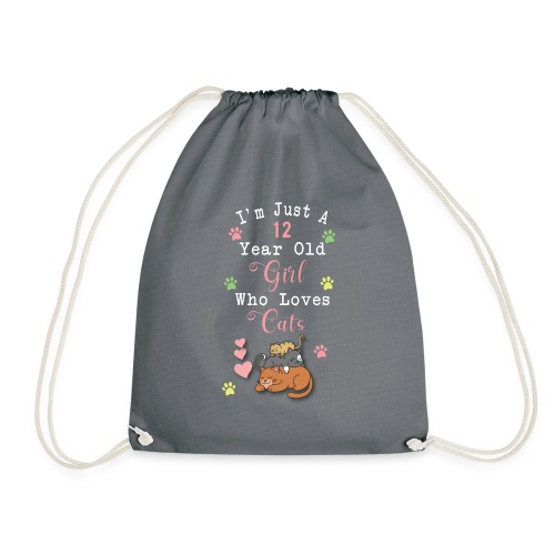 I'm just a 12 year old girl who loves cats - Sac de sport léger