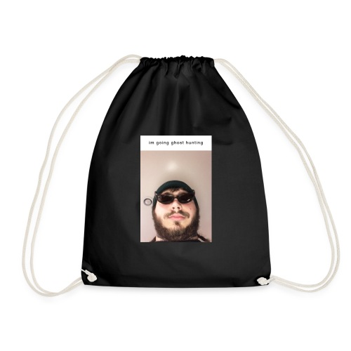 Post Malone going ghost hunting - Drawstring Bag