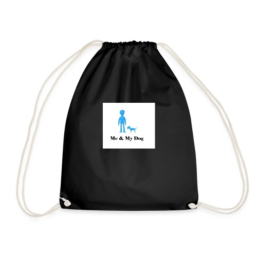 Me and My Dog - Drawstring Bag