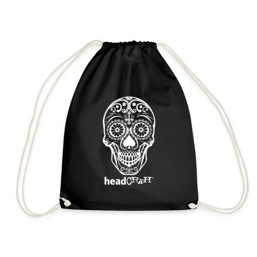 Skull & Logo white - Turnbeutel