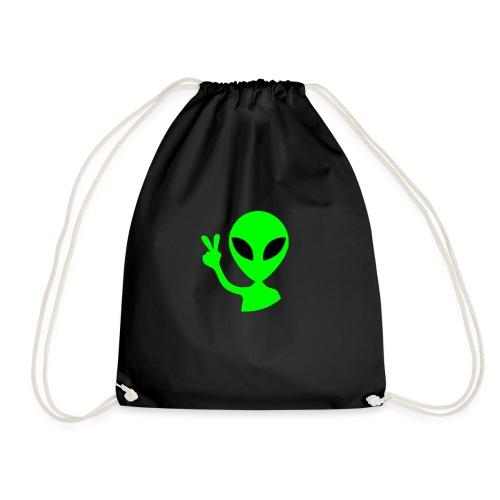 Peace out Alien - Drawstring Bag