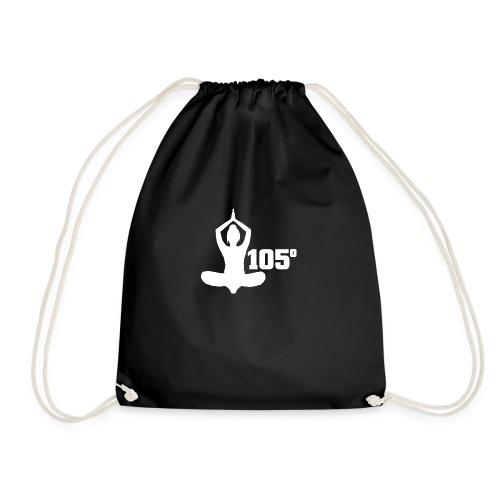 105 Degrees Hot Yoga Spiritual Pose - Drawstring Bag