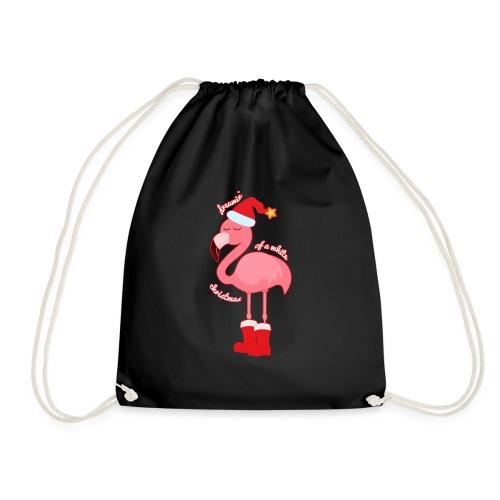 Flamingo Weihnachtsmann Traum Weihnachten witzig - Turnbeutel