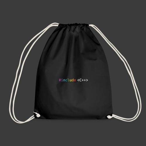rainbow for dark background - Drawstring Bag