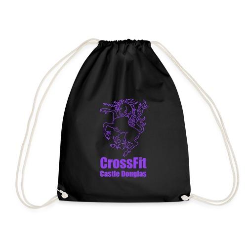 Unicorn Emblem - Purple - Drawstring Bag