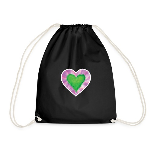 Green Heart - Drawstring Bag