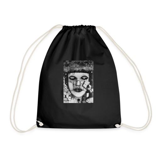 Abstract pencil drawings - Drawstring Bag