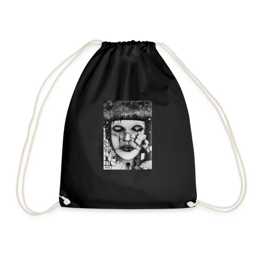 Abstract pencil drawings - Drawstring Bag