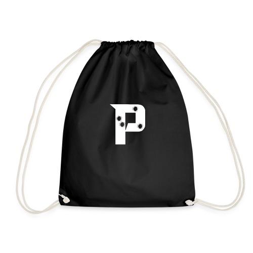 P with Bullet holes - Drawstring Bag