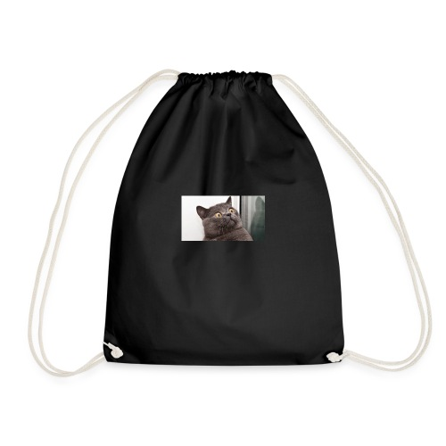 Funny cat tshirt - Drawstring Bag