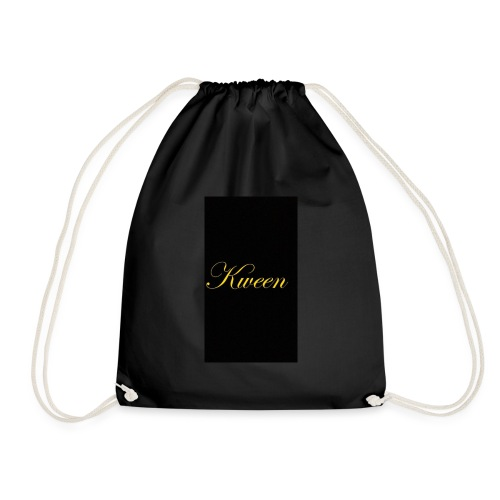 Kween design in black - Drawstring Bag
