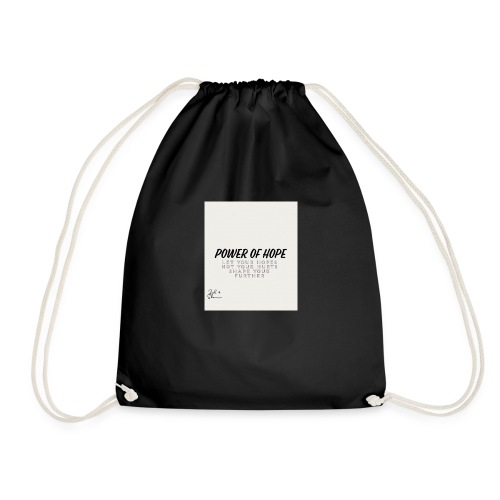 Power Of Hope Logo - Drawstring Bag