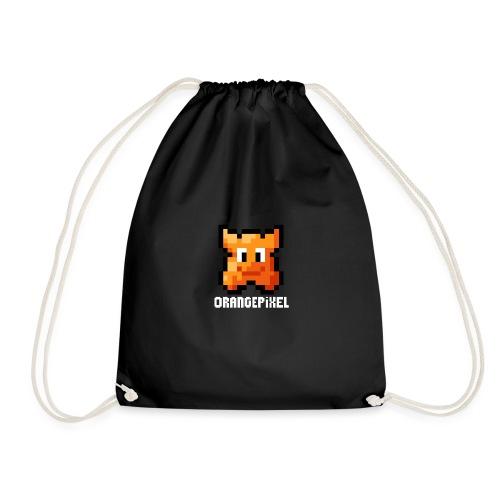 OrangePixel Logo - Text in white - Drawstring Bag