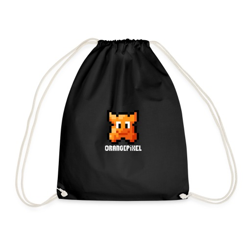 OrangePixel Logo - Text in white - Drawstring Bag