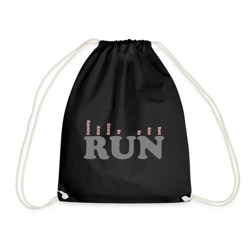 RUN RUN Shirt - Motivation zum Joggen. - Turnbeutel