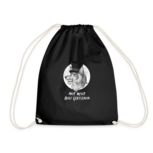 Half Wolf Half Gentleman - Drawstring Bag