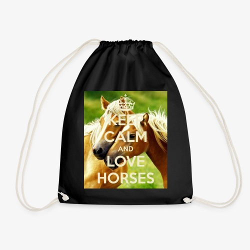 Keep Calm and love horses - Gymtas