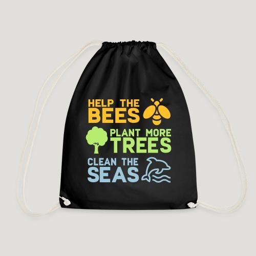 Help the Bees Plant More Trees Hilf den Bienen - Turnbeutel