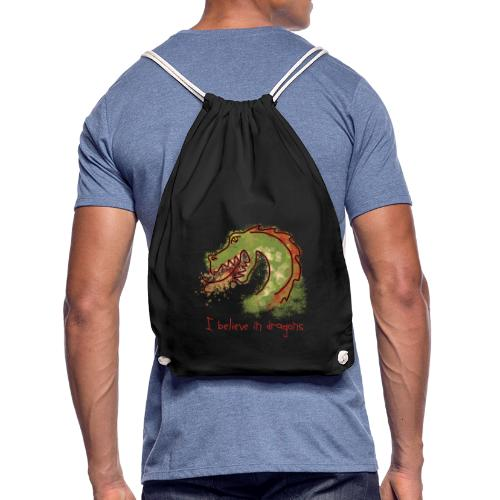 I believe in dragons - Drawstring Bag