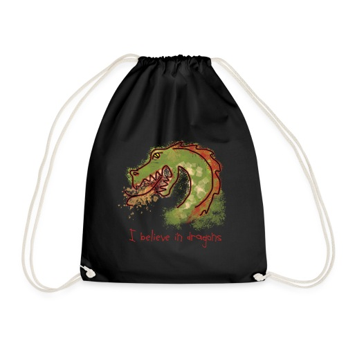 I believe in dragons - Drawstring Bag