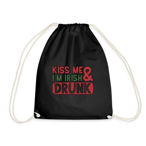 Kiss Me I'm Irish & Drunk - Party Irisch Bier - Turnbeutel