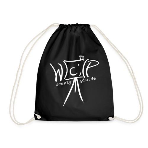 Weeklypic Logo Weiss - Turnbeutel