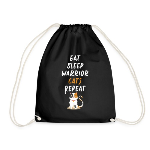 Eat sleep warrior cats repeat - Sac de sport léger