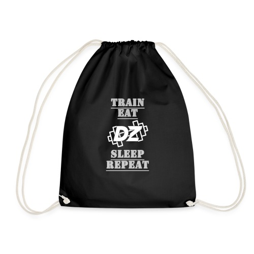 Train, Eat, Sleep, Repeat - Trainingsmotivation - Turnbeutel