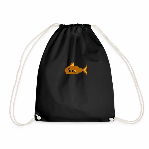 Pixel fish - Drawstring Bag