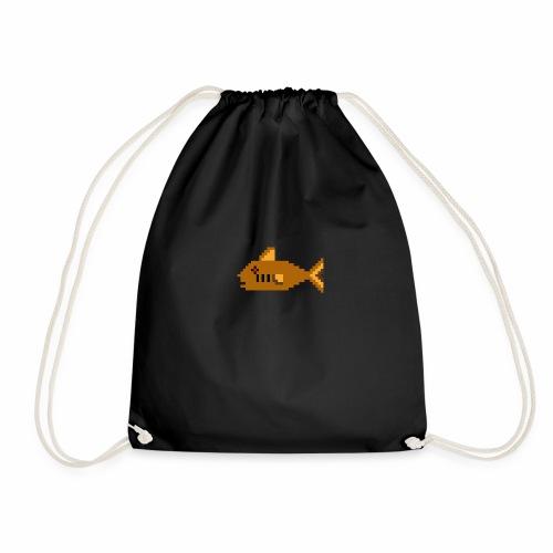 Pixel fish - Drawstring Bag
