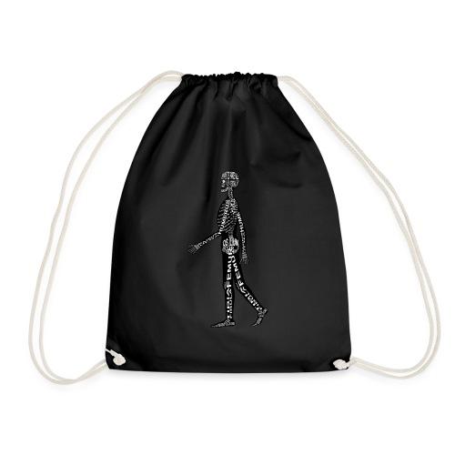 Menschen-Skelett - Sportstaske