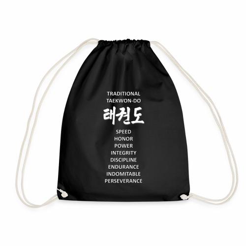 Taekwondo black & white - Turnbeutel