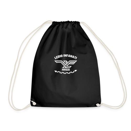 [LYF] Legio Infanati logo WHITE - Drawstring Bag