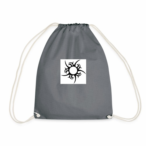 tribal sun - Drawstring Bag
