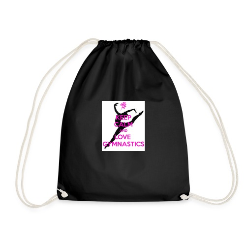 KEEP CALM AND LOVE GYMNASTICS STUFF (ON SALE) - Drawstring Bag