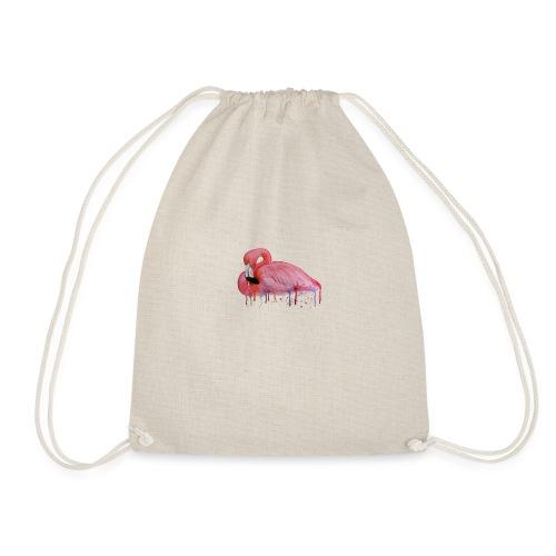 Pink Flamingo Watercolors Nadia Luongo - Sacca sportiva