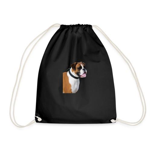 boxer hund png isolated boxer dog animal portrait - Gymnastikpåse