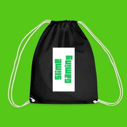 white phone logo jpg - Drawstring Bag