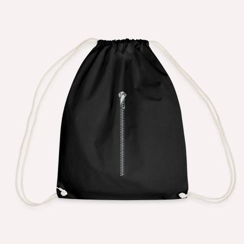 Zipper print - Drawstring Bag