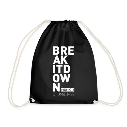 Break it Down (White) - Turnbeutel